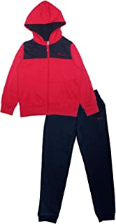 PHIBEE Boys' 2 Pieces Fleece Zip Up Hoodie Jog Pant Set
