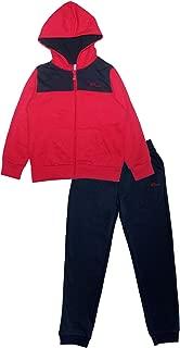PHIBEE Boys' 2 Pieces Fleece Zip Up Hoodie Jog Pant Set