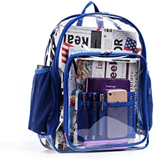 Clear Backpack, Heavy Duty See Through Backpack for College, Work, Security Travel & Sporting Event