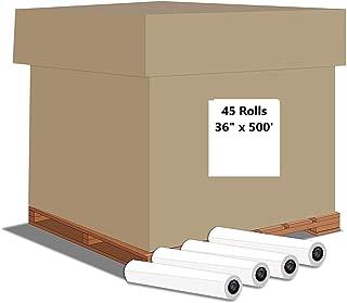 "Alliance Paper Rolls, Bond Engineering, 36"" x 500', 92 Bright, 20lb - 45 Rolls Per Pallet with 3"" Core"
