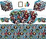 Marvel Avengers Montieren Partei Geschirr Teller Tassen Servietten Tischdecke Kostenlose Luftballons...