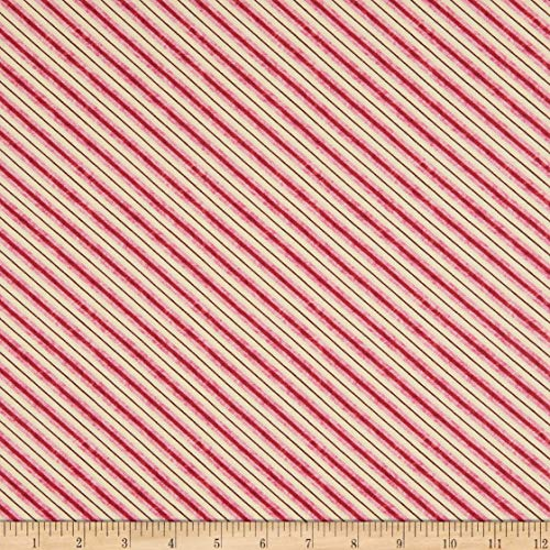 Michael Miller Victoria's Garden Sideway Red Fabric by The Yard