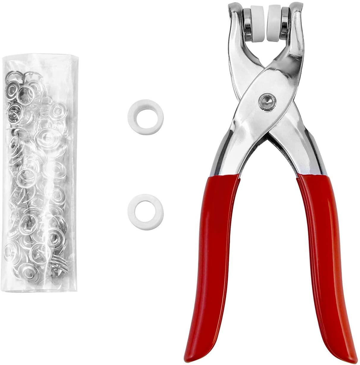 QWORK Snap Fastener Tool with Selling and selling 100 Regular store Pieces complete a Male for 25