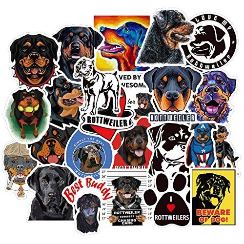 Animal Dog Rottweiler Cartoon Stickers To DIY Motorcycle Car Helmet Guitar Laptop Skateboard Suitcase Decals Sticker F5 50Pcs