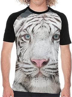 White Bengal Tiger Men Jersey Shirt Baseball Tee Raglan T-Shirts