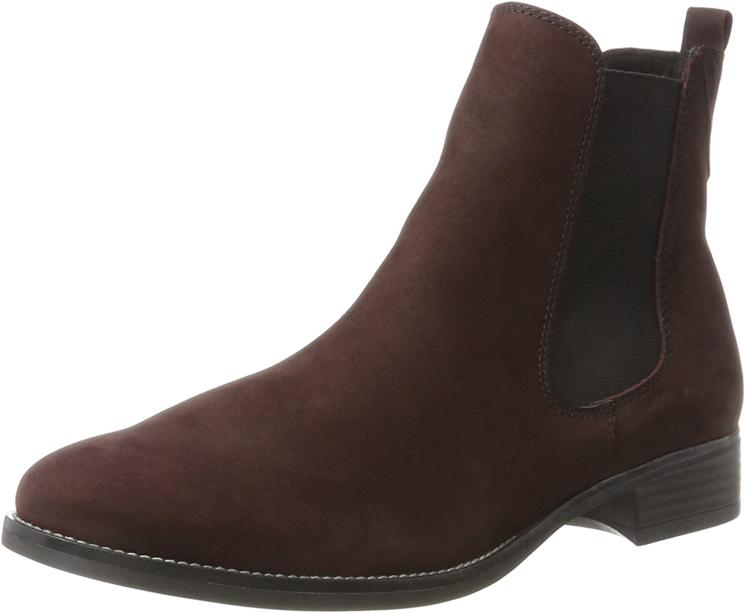 Caprice Dark Bordeaux Ankle Boot Womens Chelsea Boots