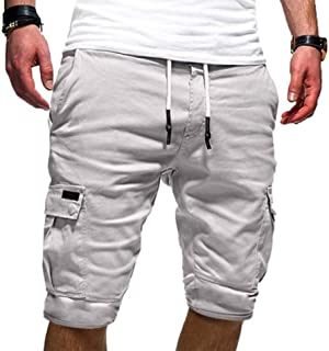 Sponsored Ad - THWEI Cargo Shorts for Men Elastic Waist Casual Shorts for Men Big Tall