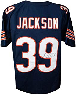 Eddie Jackson Autographed Chicago Bears Custom Football Jersey - BAS COA