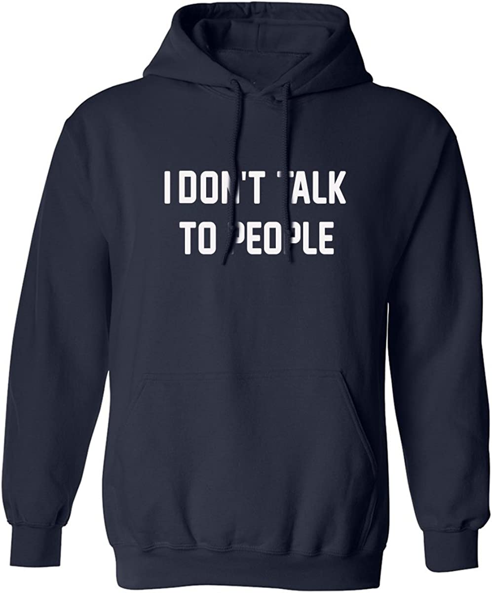 I Don't Talk to People Adult Hooded Sweatshirt in Navy - XXXXX-Large