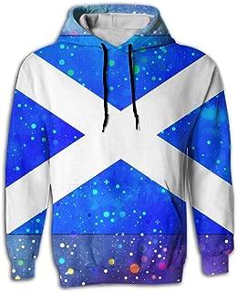 Men's Hoodies Scotland Flag Starry Flag Sweatshirt Hooded Sweatshirt Pullover Pockets With Creative 3D Printed Graphic