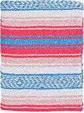 El Paso Designs Peyote Hippie Blanket Classic Mexican Style Falsa Stripe Pattern in Vivid Peyote Colors. Throw, Bed, Tapestry, or Yoga Blanket. Hand Woven Acrylic, 57' x 74' (Peyote 3)