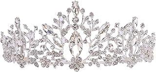 LiChaoWen Corona Tiara Wedding for Le Donne Nuziale Strass Crown Princess Argento Cerimonia Nuziale di Spettacolo di Acces...
