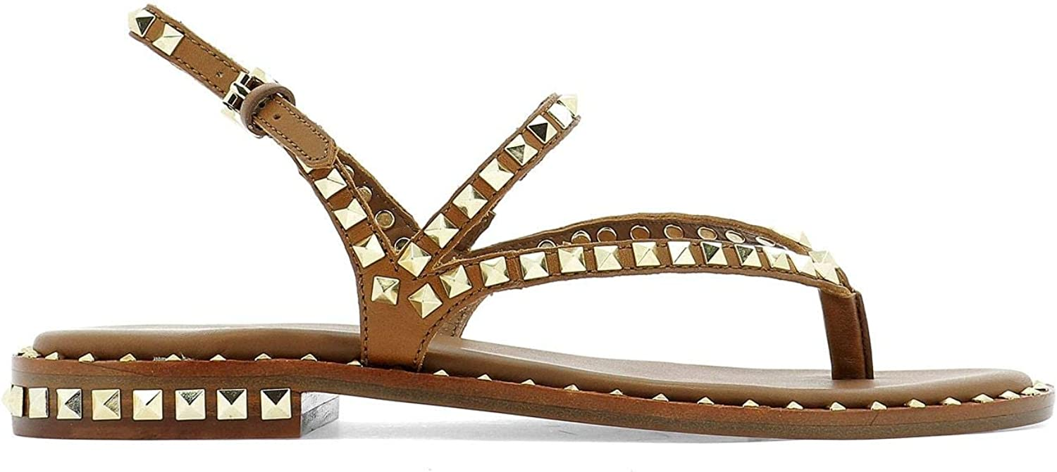 Ash Women's PEPS04SOFTBRASILCUOIO Brown Leather Sandals