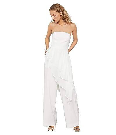 BCBGMAXAZRIA Strapless Jumpsuit (Off-White) Women