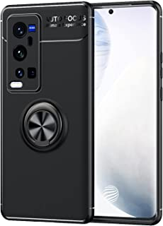 جراب XINKOE لهاتف Vivo X60 Pro Plus, PC TPU 2 في 1 Ultra Slim Slim Cover Ring bracket [Slim Fit] [مضاد للخدش] [امتصاص الصد...