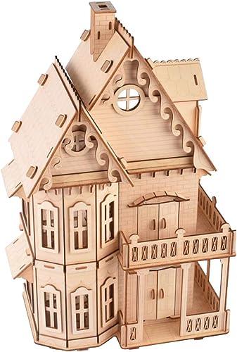 Healifty Woodcraft Construction Kit 3D Puzzle de madera Modelo DIY Juguete educativo para Niños adultos
