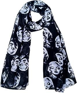Scarf for Girl Women Boy Marilyn Monroe Gift Fashion Shawl & Wrap