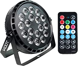 Stage Lights,KOOT 72W Super Bright RGBW Uplight DJ Par Can Light LED by Remote Control and DMX Sound Activated for DJ Club Bar Wedding Show