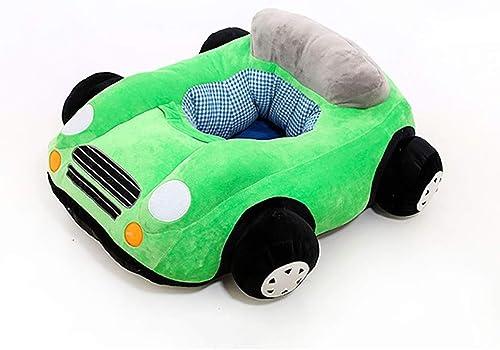 Zsd Siège d'enfant d'apprentissage Voiture Super Doux en Peluche Jouet d'apprentissage bébé Chaise bébé canapé en Tissu L60.0 cm  L50.0 cm  H15.0 cm ( Couleur   Vert )