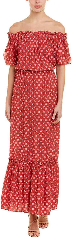 1.STATE Womens TieWaist Flounce Maxi Dress