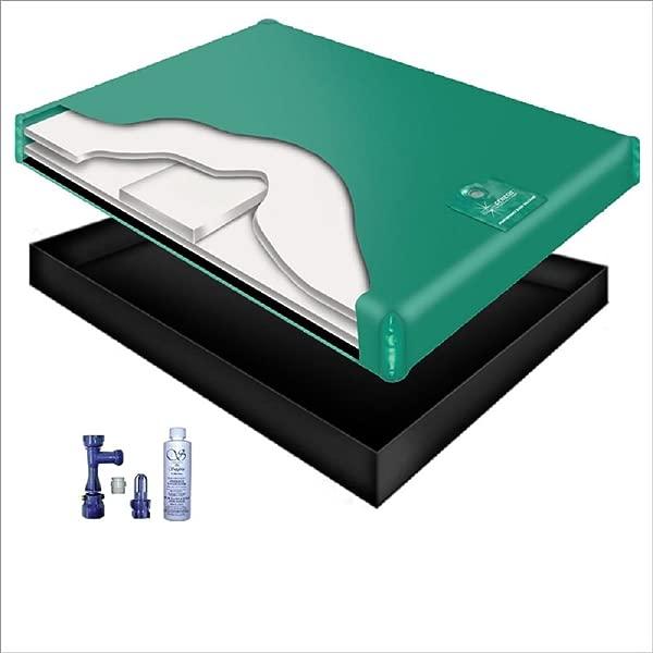 80 WAVELESS WATERBED Mattress Liner Fill Drain Conditioner KIT Queen 60x84 1G6S2