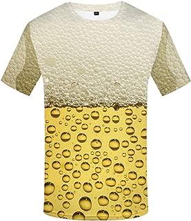 KYKU Unisex Creative Animal 3D Printing Funny Graphic Couple Short Sleeved T-Shirt