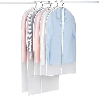 Garment Shoulder Covers Bag, for Travel Storage Closet Clothes Suit Jacket Shirts Organizer with 5 Middle zipper