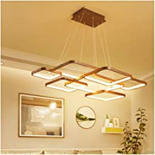 Minimalist Pendant Light Box Ceiling Lighting Living Room Restaurant Bar Chandelier LED Light Source Stepless Dimming with...