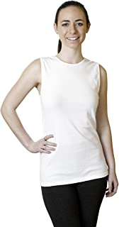 Woman's Cotton Sleeveless Undershirt, Smooth and Seamless Tank Top, XX-Large, White