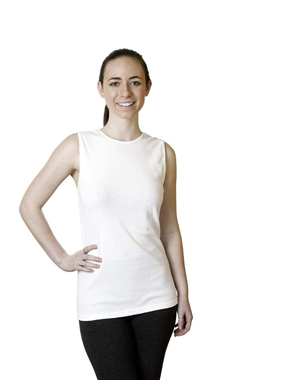 Rosette Women's Sleeveless Undershirt - Cotton – High Neck, Full shoulder design