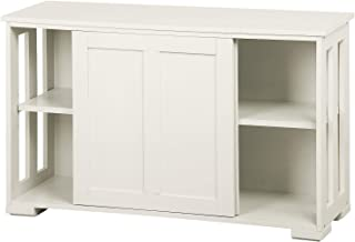 Yaheetech Aparador Buffet con Puerta Corredera 106 x 33 x 63 cm Blanco Armario de Salón para Cocina Sala de Estar Muebles ...