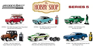 Greenlight The Hobby Shop Series 5 Diecast Car Set - Box of 6 Assorted 1/64 Scale Diecast Model Cars