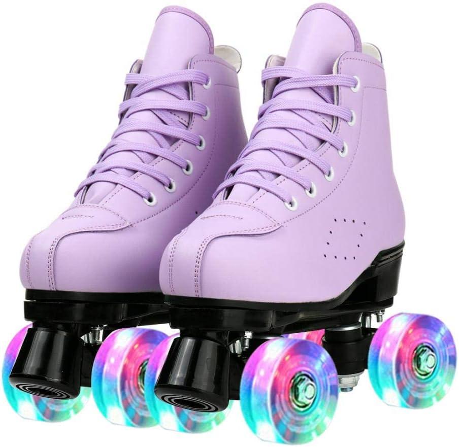 Roller Skates PU gift Leather Four-Wheel Popular brand