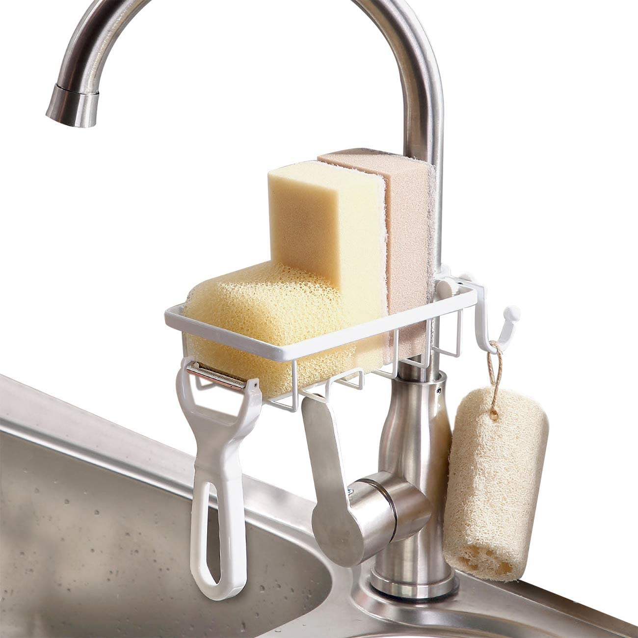 GeLive Faucet Sponge Same day shipping Holder Soap Dish Caddy Organi Kitchen Cheap bargain Sink