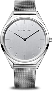 BERING Unisex Analogue Quartz Watch with Stainless Steel Strap 17039-000