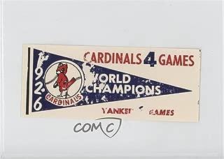 1926 St. Louis Cardinals COMC REVIEWED Poor (Baseball Card) 1961 Fleer Baseball Greats World Series Pennant Decals #1926