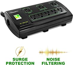 Rocketfish 8-Outlet Power Manager with Surge Protection and Noise Filtering