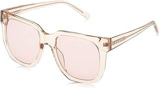 نظارات شمسية سيتي نيتيف للنساء من دي كيه ان واي بتصميم مربع بلون زهري داكن
