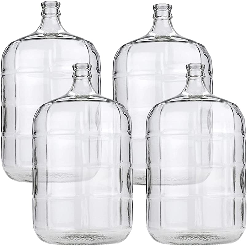 4 X 5 Gallon Glass Carboy For Beer Or Wine Making