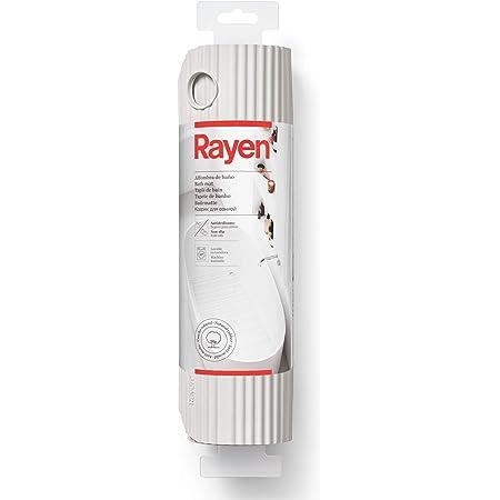 Rayen Baño | Alfombra para Ducha/bañera | Máxima Caucho Natural | Antideslizante | con ventosas de Alta Resistencia, Gris Claro, Medidas: 86 x 33 cm
