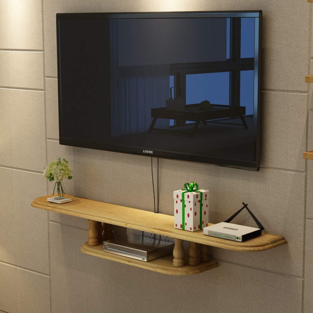 SjYsXm-Floating shelf Estante De Madera Gabinete de TV Montado en la Pared Soporte TV Estante de Set-Top Box Consola de TV Flotante Pared Casilleros (Color : B, Tamaño : 100CM): Amazon.es: Hogar