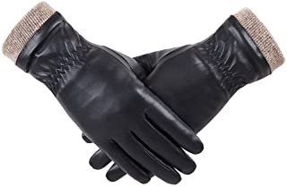 Best REDESS Winter Leather Gloves for Women, Wool Fleece Lined Warm Gloves, Touchscreen Texting Thick Thermal Snow Driving Gloves Reviews