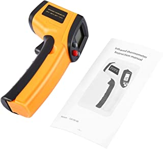 Punto sin contacto del laser LCD Digital termómetro infrarrojo IR pistola térmica Temperatura de imágenes de infrarrojos portátil medidor Pirómetro (amarillo)