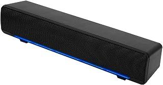 Barra de Sonido, Mini Barra de Sonido con USB y Conector de Audio de 3,5 mm Altavoz de Sonido Estéreo 3D con Luz de Respiración LED Compatible con TV, Computadora de Escritorio, Computadora Portátil, Teléfono Inteligente, PC, MP3 (Negro)