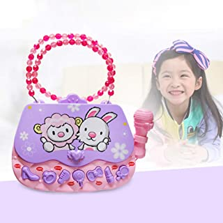DishyKooker Children Gifts Children's Educational Music Bag Early Education Toy with Microphone Girl Bag Music Toys Purple