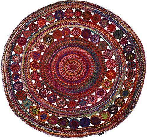 Bakero Teppich, Baumwolle, Mehrfarbig, 150 x 150 x 0.8 cm
