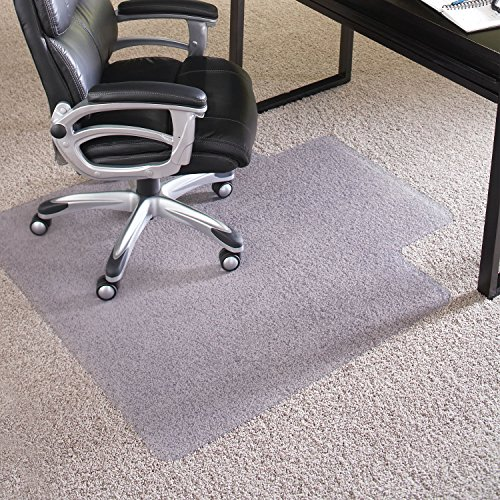 ES Robbins EverLife Anchor Bar Lipped Vinyl Chair Mat for High Pile Carpet, 45 by 53-Inch, Clear