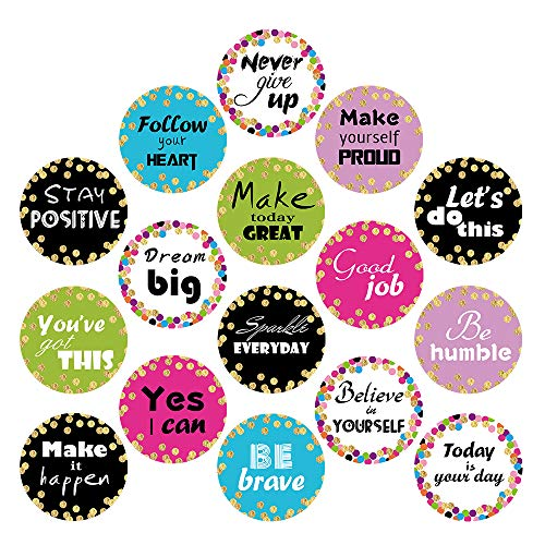 Confetti Positive Sayings Accents Stickers, 50 Pcs Back-to-School Decoration for Bulletin Board/Black Board/Chalkboard/Whiteboard Trim, Teacher/Student Use for Classroom/School Decoration, 16 Design