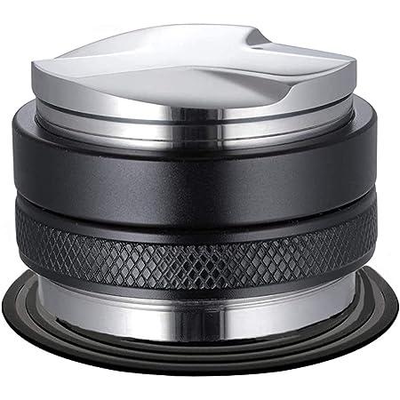 51 mmエスプレッソコーヒー タンパー ディストリビューター エスプレッソマシン ステンレスタンパー ブラック 両面、高さ調整可能 (ブラック-51mm)