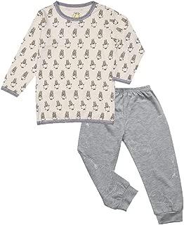 Baa Baa Sheepz Pyjamas Set, Yellow/grey, 6-12M